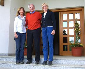 Geerteke Kroes (r) met Fritz Stahlecker (m) en Petra Wägenbaur